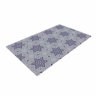 Laura Nicholson Star Power Geometric Blue Area Rug