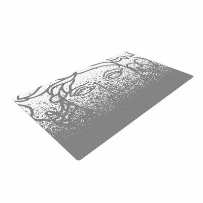 Just L Versus Spray Digital Gray Area Rug Rug Size: 4 x 6