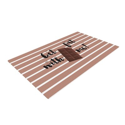 Get Fat Chocolate Brown Area Rug