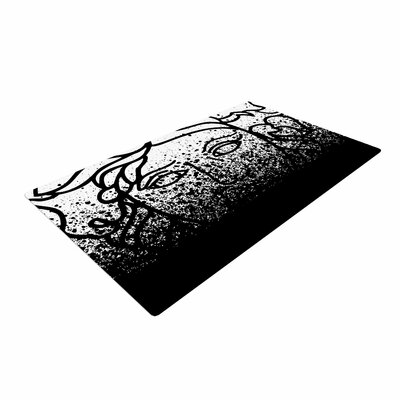 Just L Versus Spray Abstract Urban Black Area Rug