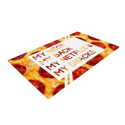 Priorities Typography Food Red/Yellow Area Rug Rug Size: 4 x 6