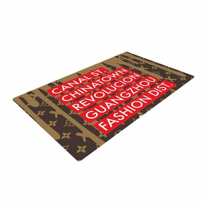 Just L Cant Knock the Hustle Urban Red/Brown Area Rug