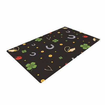 Charms Black Area Rug