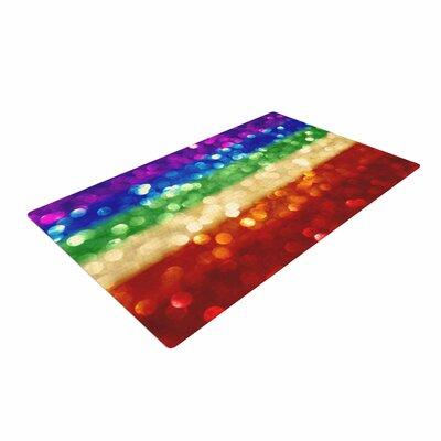 Kristi Jackson Rainbow Bokeh Digital Area Rug Rug Size: 4 x 6
