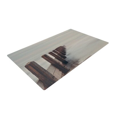 Laura Evans Brush Strokes Brown/Gray Area Rug Rug Size: 4 x 6