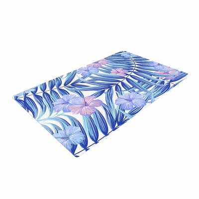 Marta Olga Klara Hawaiian Pattern Blue/Purple Area Rug