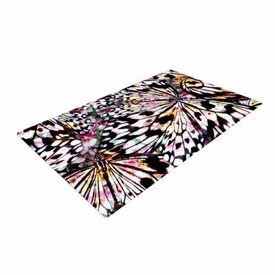 Louise Machado Butterfly Wings Black/White Area Rug