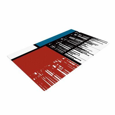Just L Saint Drips Abstract Red Area Rug