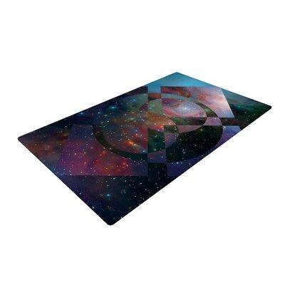 Matt Eklund Galactic Radiance Blue/Purple Area Rug Rug Size: 4 x 6