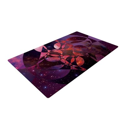 Matt Eklund Galactic Brilliance Pink/Purple/Magenta Area Rug