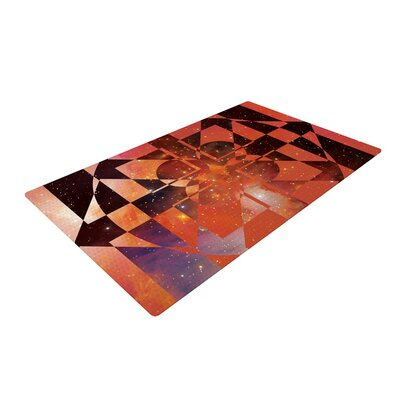 Matt Eklund Galactic Hope Bittersweet Red/Orange Area Rug Rug Size: 4 x 6