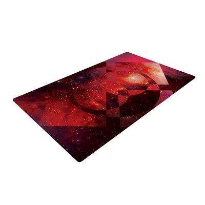 Matt Eklund Galactic Radiance Crimson Red/Pink Area Rug