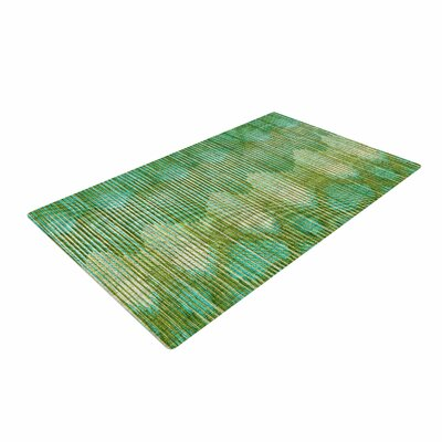 Michelle Drew Vintage Ikat Gold/Green Area Rug Rug Size: 2 x 3