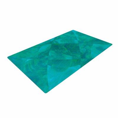 Matt Eklund Under the Sea Teal/Green Area Rug