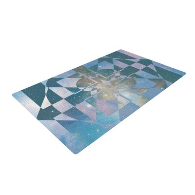 Matt Eklund Galactic Hope Blue Area Rug