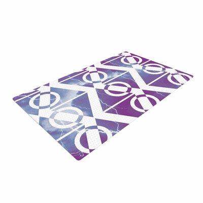 Matt Eklund Mana Storm Purple/White Area Rug