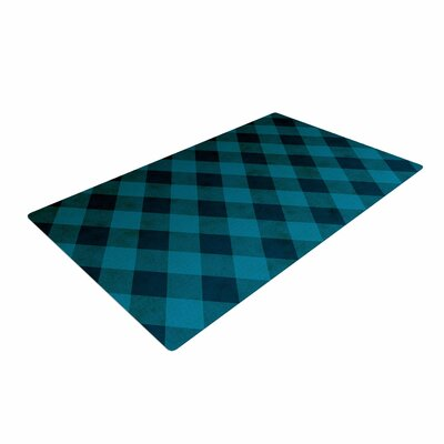 Matt Eklund Deep Current Pattern Blue Area Rug Rug Size: 4 x 6