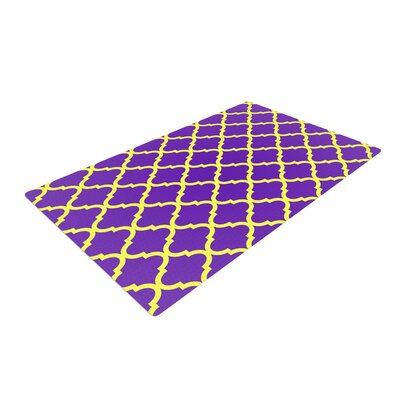 Matt Eklund Culture Shock Yellow/Purple Area Rug Rug Size: 2 x 3