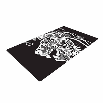 Maria Bazarova Kind Lion Black/White Area Rug