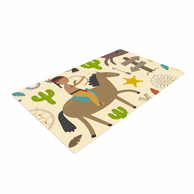 Petit Griffin Tipi Kids Brown Area Rug