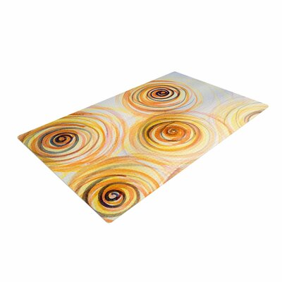 Maria Bazarova Spirals Yellow/Gold Area Rug