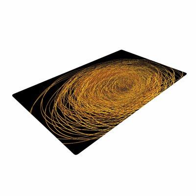 Maria Bazarova Hay Gold/Black Area Rug