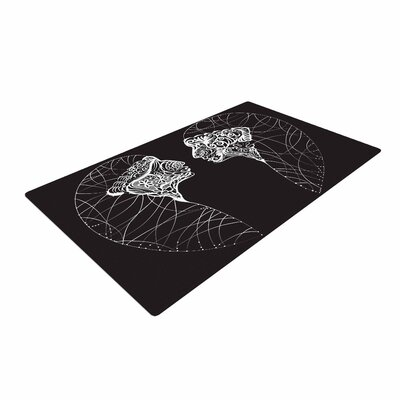 Maria Bazarova Two Twins Black/White Area Rug