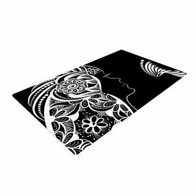 Maria Bazarova Horoscope Virgin White/Black Area Rug
