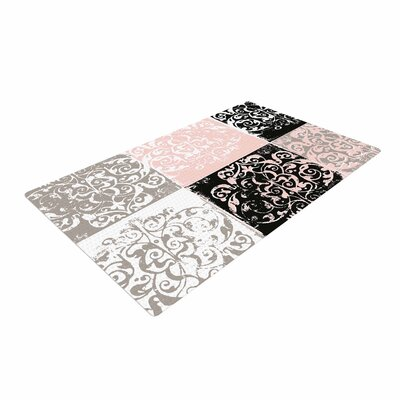Chickaprint Damaskmix Pink/Gray Area Rug