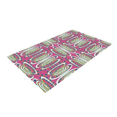 Miranda Mol Bohemian Wild Abstract Pink Area Rug