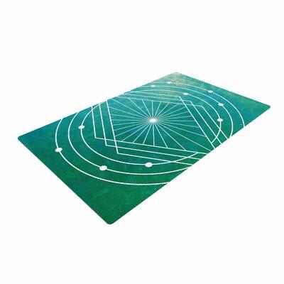 Matt Eklund Atlantis Geometric Teal Area Rug