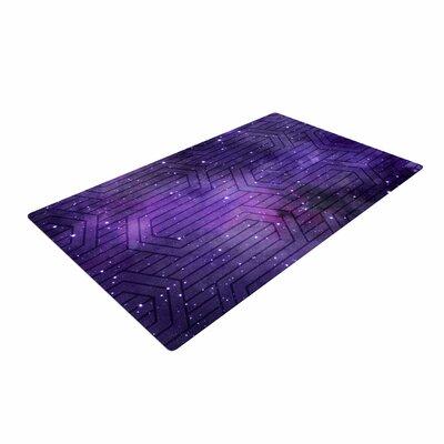 Matt Eklund Cosmic Labyrinth Purple/Lavender Area Rug