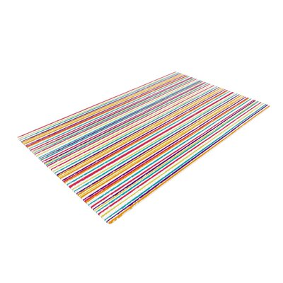 Nika Martinez Summer Stripes Abstract Mutilcolor Area Rug