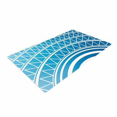 Matt Eklund Azure Portal Blue/White Area Rug