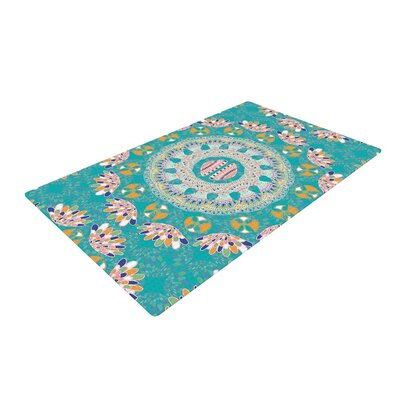 Miranda Mol Luscious Blue/Pink Area Rug Rug Size: 2 x 3