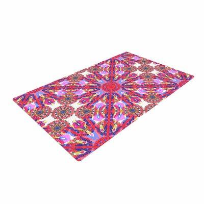 Miranda Mol Kaleidoscopic Floral Pink/Purple Area Rug