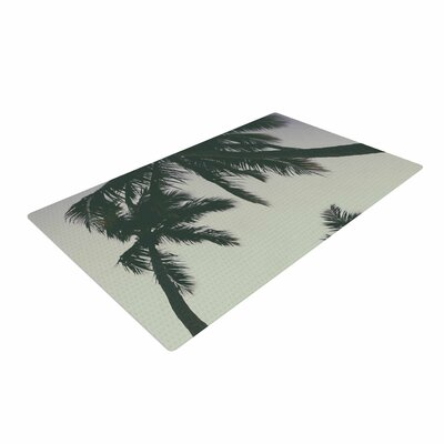 Mary Carol Fitzgerald Rise of Palms Photography Purple Area Rug