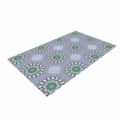 Nika Martinez Princess in Purple Arabesque Green Area Rug