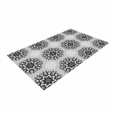 Nika Martinez Princess Vector Gray/Black/White Area Rug Rug Size: 4 x 6