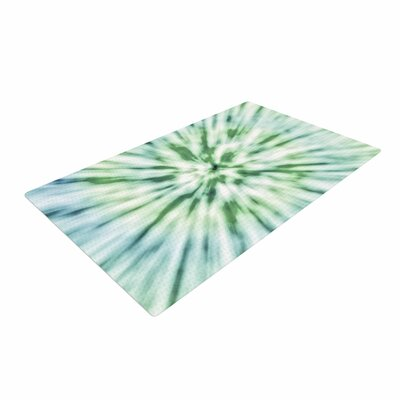 Nika Martinez Spring Tie Dye Green/Blue Area Rug