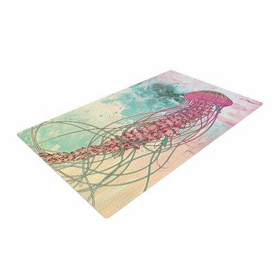 Mat Miller Jellyfish Illustration Teal Area Rug