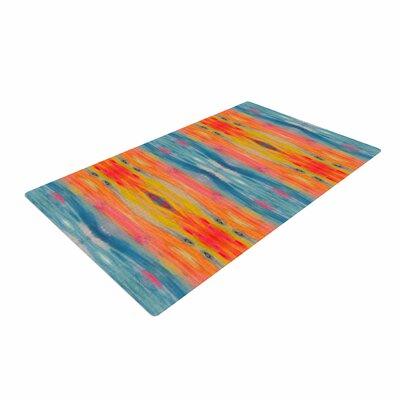 Nika Martinez Boho Tie Dye Teal/Orange Area Rug