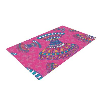 Miranda Mol Tribal Fun Abstract Magenta/Pink Area Rug Rug Size: 2 x 3