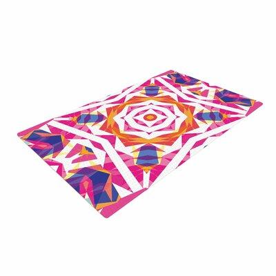 Artist Name Paradise Indigo/Pink Area Rug Rug Size: 2 x 3