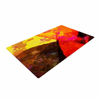 Matthias Hennig Into the Fire Red/Yellow Area Rug