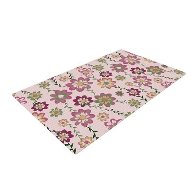 Nika Martinez Romantic Flowers Floral Blush Pink Area Rug Rug Size: 2 x 3
