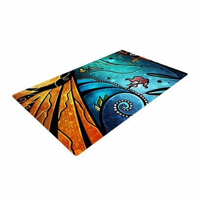 Mandie Manzano Sea Dance Blue/Orange Area Rug