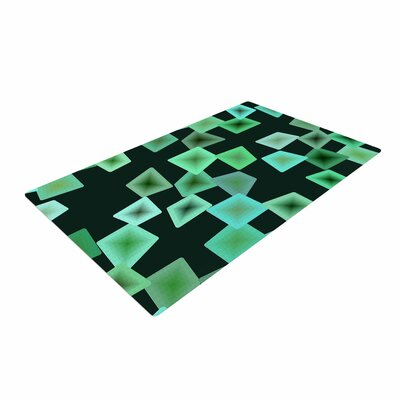 Mimulux Patricia No Sea Glass on the Shore Digital Green Area Rug