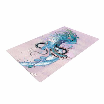Mat Miller Journeying Spirit (Ermine) Fantasy Magenta Area Rug