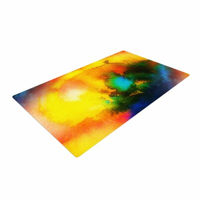 Mimulux Patricia No Good Vibrations Abstract Yellow Area Rug Rug Size: 2 x 3